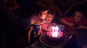 Sydney's Party Blowing out the candles