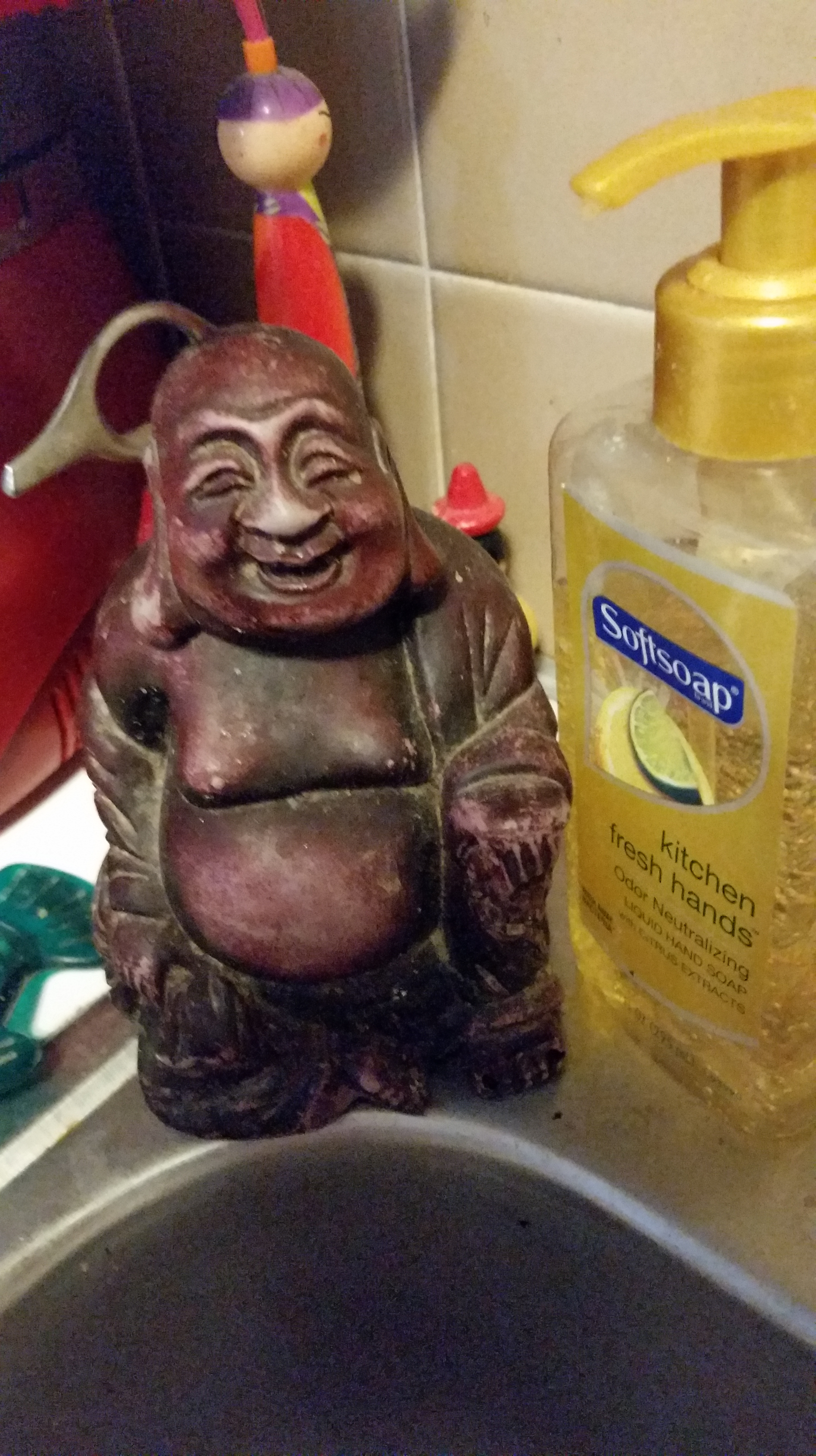 My Buddha by the sink