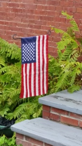 Flag on Steps, Maine -15