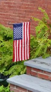 Flag on Steps, Maine -15