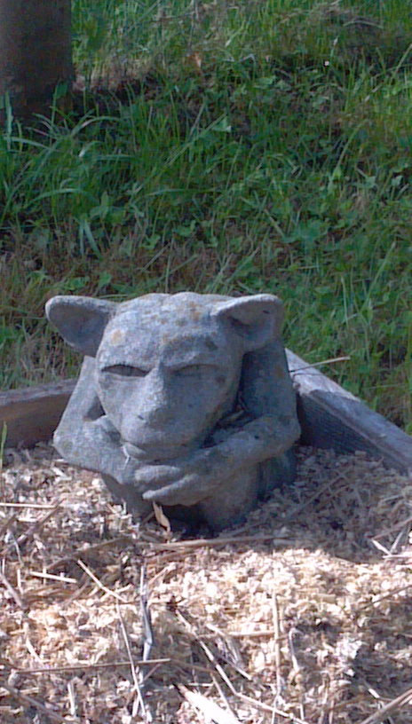 Gargoyle Contemplation at LLisa's