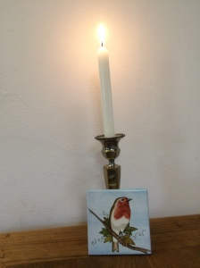 Angela's candle for her dad